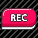 interface, photo, rec, record, ui, user, video icon