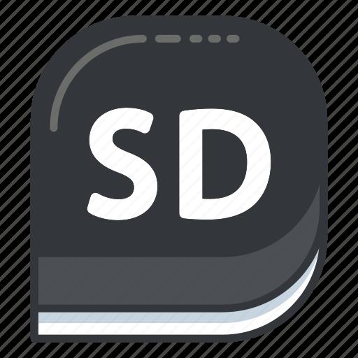 card, media, memory, photo, sd, video icon