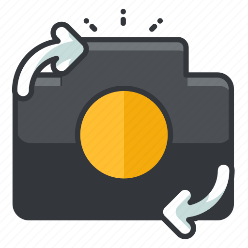 arrow, back, camera, change, device, front icon