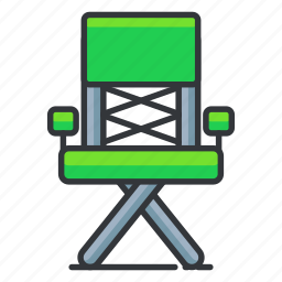 chair, director, entertainment, media, movie, video icon