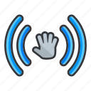 hand, moving, photo, target, ui, video icon