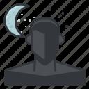 mode, moon, night, person, profile, ui