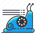 photo, snail, speed, ui, video icon