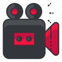 interface, movie, record, ui, user, video icon