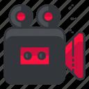 interface, movie, record, ui, user, video icon