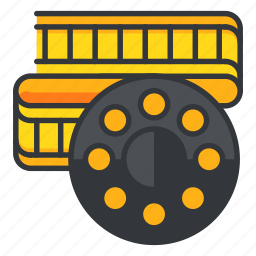 film, interface, movie, roll, ui, user, video icon