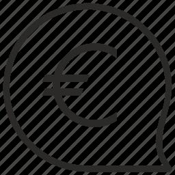 cash, comment, euro, message, money icon