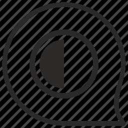 chart, comment, contrast, half, message, part icon