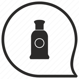 aroma, bottle, comment, men, message, parfume icon