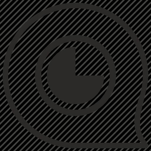 chart, comment, economic, message, part icon
