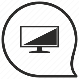 comment, message, plazma, screen, set, tv icon