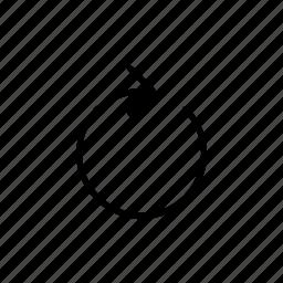 arrow, rotate, round icon