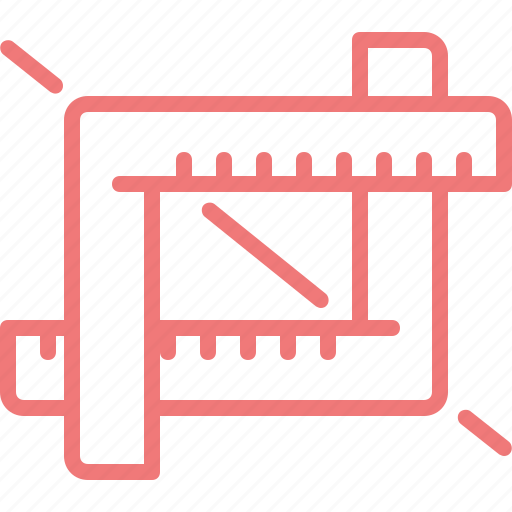 crop, design, graphic, rule, size, tool icon