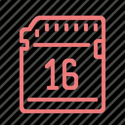 card, drive, hardware, memory, sd icon