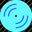 disc, film, logo, media, movie, music, video