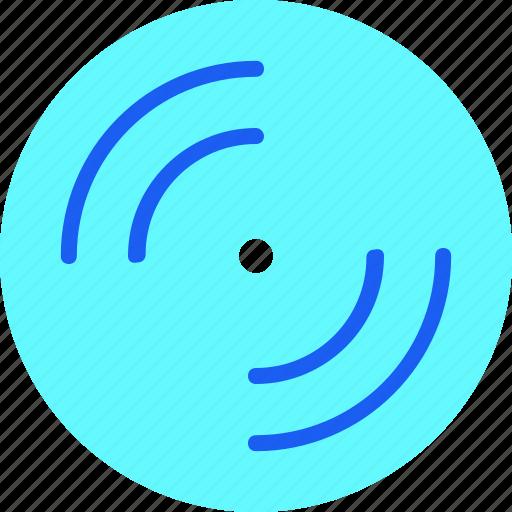 disc, film, logo, media, movie, music, video icon