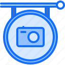 camera, photo, photographer, shooting, sign, signboard, studio icon