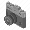 photography, technology, cartoon, vintage, isometric, retro, camera icon