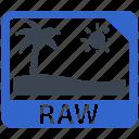 image, photo, raw, file format, raw image, file name icon