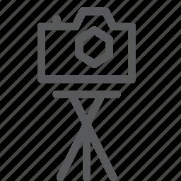 camera, film, image, photo, photography, shoot, tripod icon