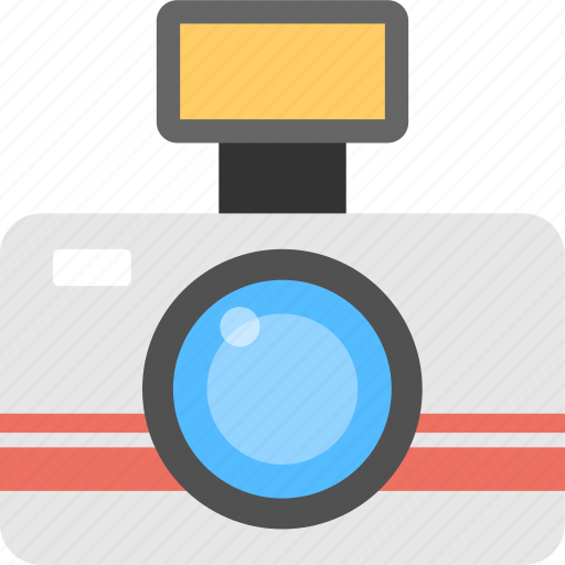 Digital device, retro camera, photography, flash camera, electronic equipment icon