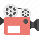 cinematography, film camera, movie camera, movie maker, video camera icon