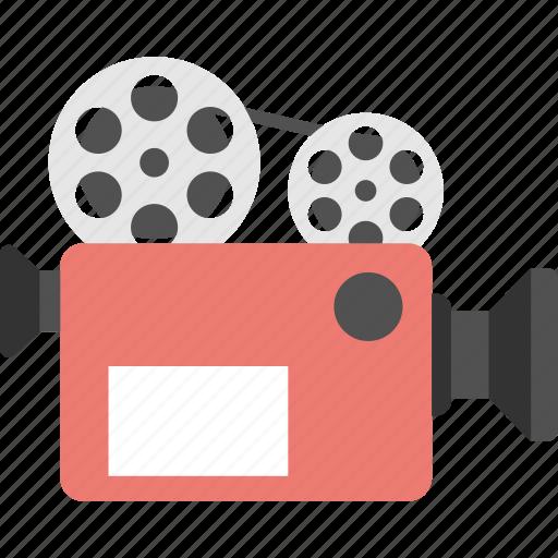 cinematography, film camera, movie camera, movie maker, video camera icon