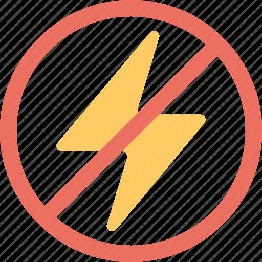 camera restriction, disable flash, flash forbidden, no charging, no flash icon