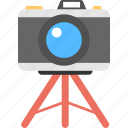 camera tripod, dslr, photographer, photography, professional camera icon