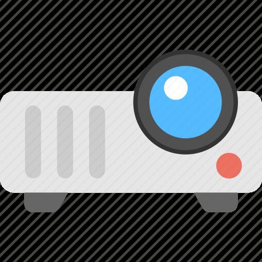 digital projector, film projection, multimedia device, photographic presentation, video projector icon