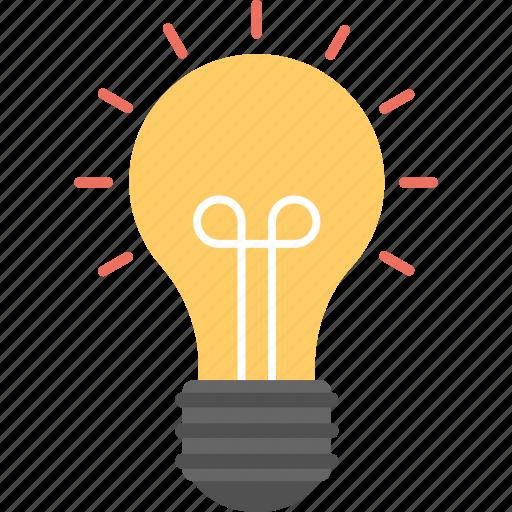 bright idea, brightness, electric bulb, light, solution icon