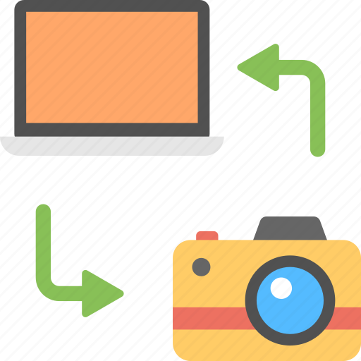 camera backup, data management, image transfer, photo sharing, picture copying icon