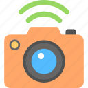 camera and wireless, hotspot connection, photo camera, wifi camera, wifi technology app icon
