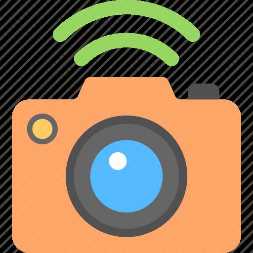 camera and wireless, hotspot connection, photo camera, wifi camera, wifi technology app icon
