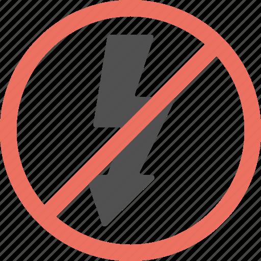 Disable flash, flash forbidden, no flash, no charging, camera restriction icon