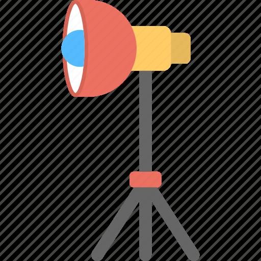bright casting, electric equipment, industry lamp, photographic light, studio lighting icon