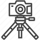 camera, equipment, photo, photographer, photography, tripod icon