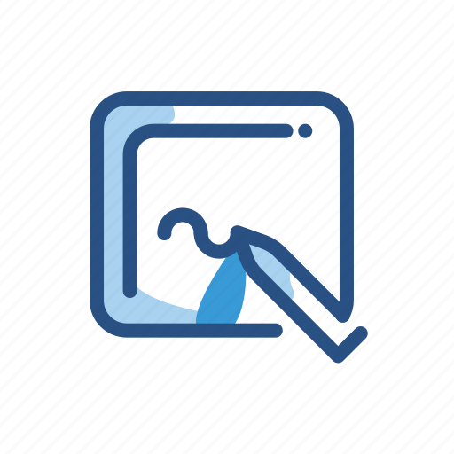 canvas, drawing, electronic, tool icon