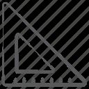 architect scale, ruler, triangular scale, geometry, stationery icon