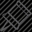 drawing pin, fastener tack, push pin, soft board pin, tack, thumbtack icon