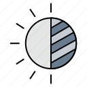brightness, contrast, visibility icon