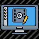 editing, editor, film, multimedia, video, video editing, video editor icon