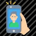 male, man, selfie, shot icon