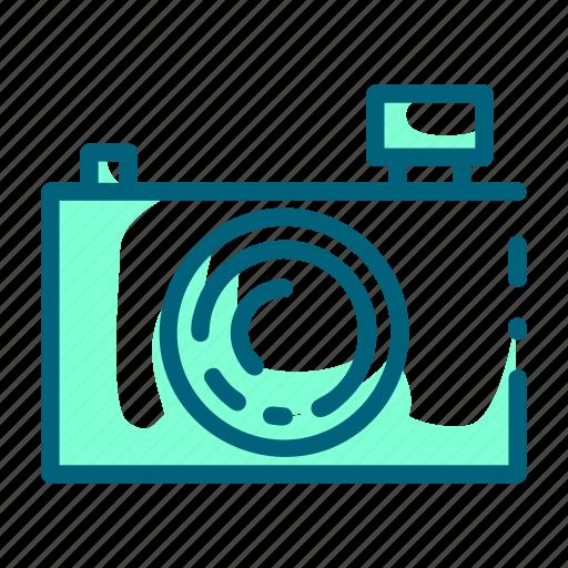 camera, compact, lens, photography, pocket icon