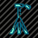 camera, dslr, shoot, stand, tripod icon