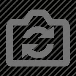arrows, camera, refresh, reload, sync icon