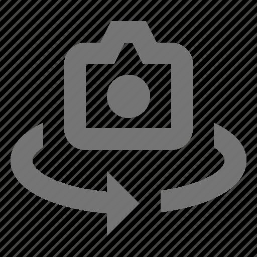 arrow, camera, refresh, reload, sync icon