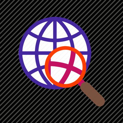 browser, internet, network, report, search, seo, web icon