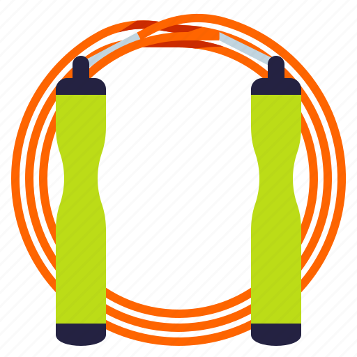 fitness, jump, rope, sport icon