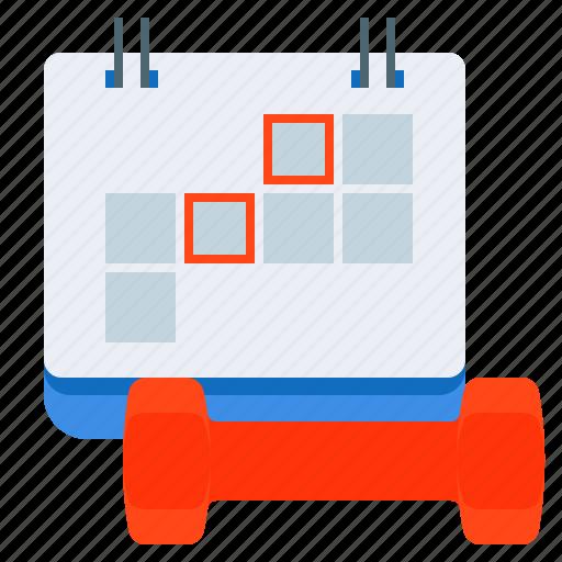 fitness, plan, timetable, workout icon